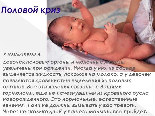 Половой криз у новорожденного ребенка